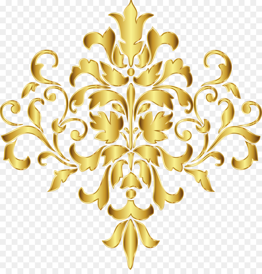 Flower Design Gold clipart.