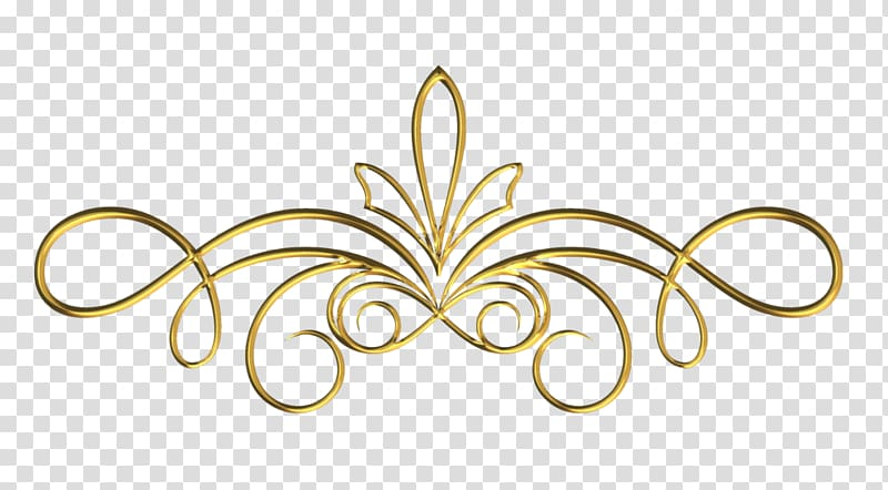 Scroll Gold, design transparent background PNG clipart.
