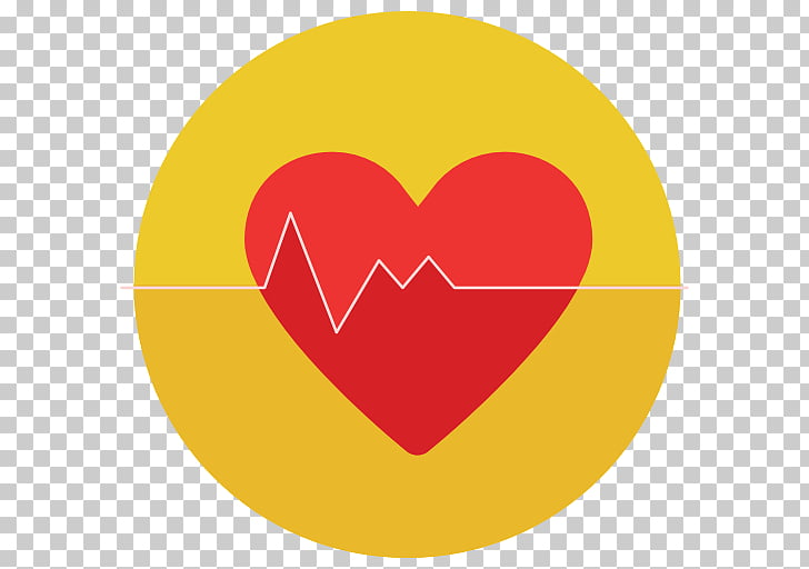Heart rate Android Medicine, gold heart PNG clipart.