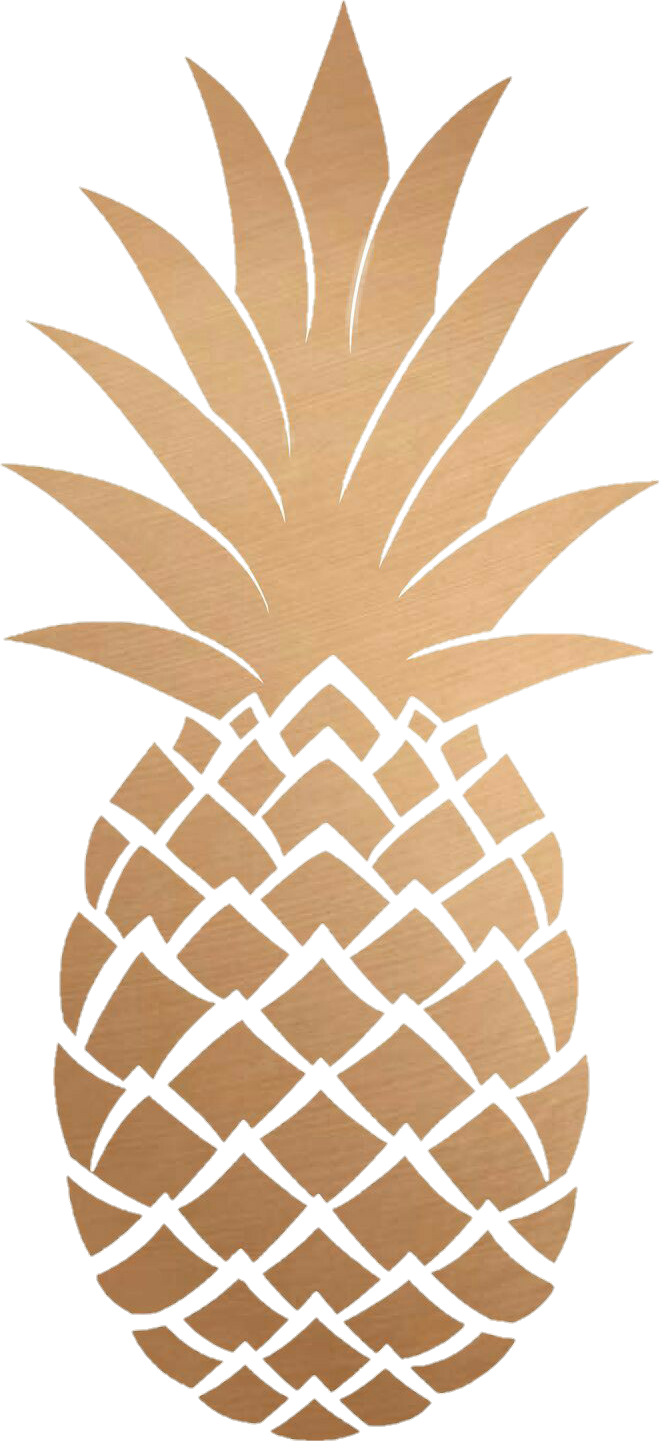 Pia Png Tumblr Gold Pineapple Transparent Background.