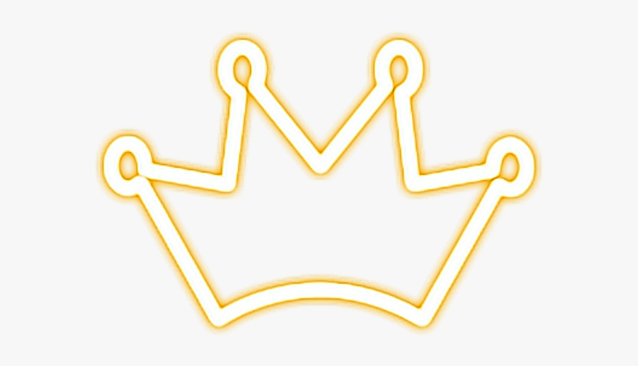 Crown Gold Neon Neonlights Outline Corona Png Sticker.
