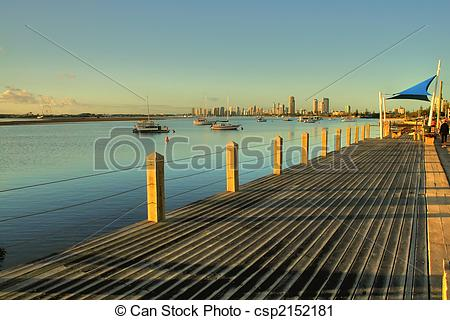 Stock Photography of Broadwater Boardwalk.