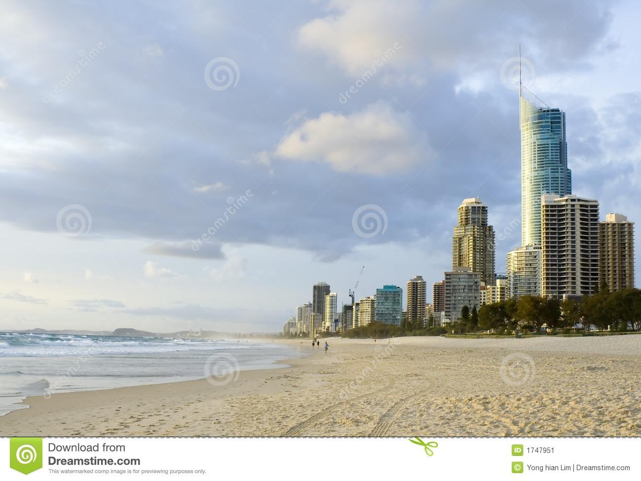 Gold Coast In Queensland Australia Stock Image.