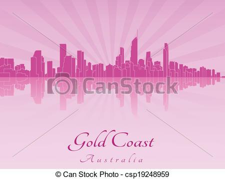 Gold coast skyline Clipart Vector Graphics. 208 Gold coast skyline.