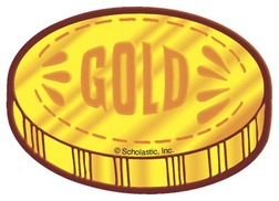 Gold coins clipart.