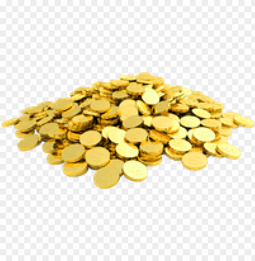 gold coins falling png PNG image with transparent background.