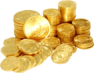 Gold Coins transparent PNG.