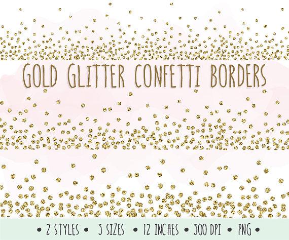 Free Gold Confetti Border Png, Download Free Clip Art, Free.