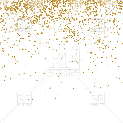 Gold confetti pattern isolated on white background Stock Vector Image.
