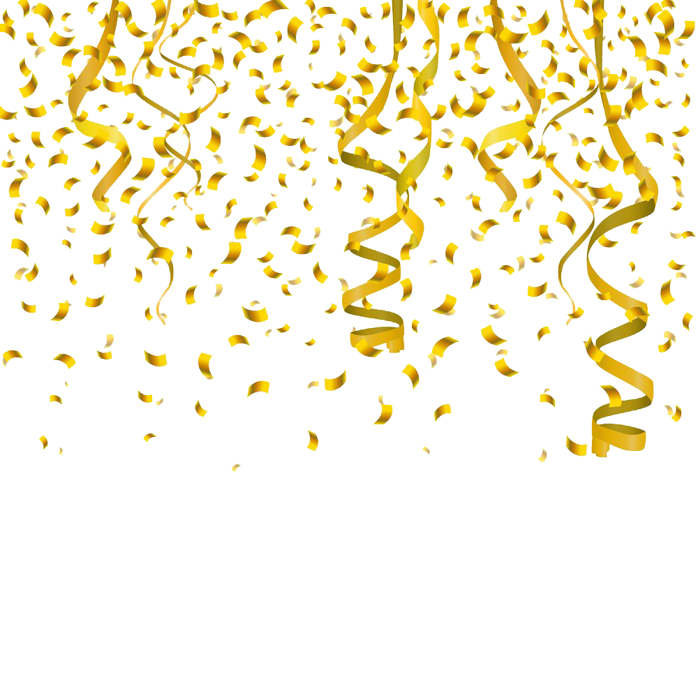 Gold confetti png clipart images gallery for free download.
