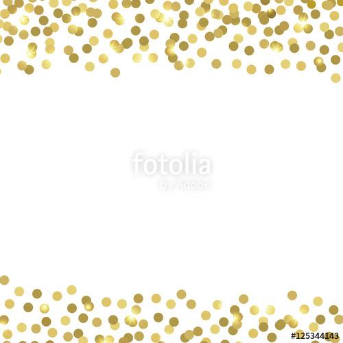 Golden confetti. Vector background.