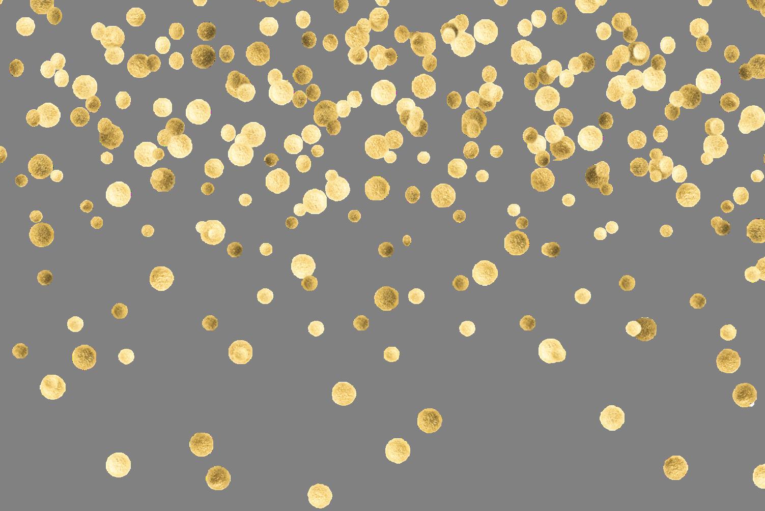 Confetti Gold Clip art.