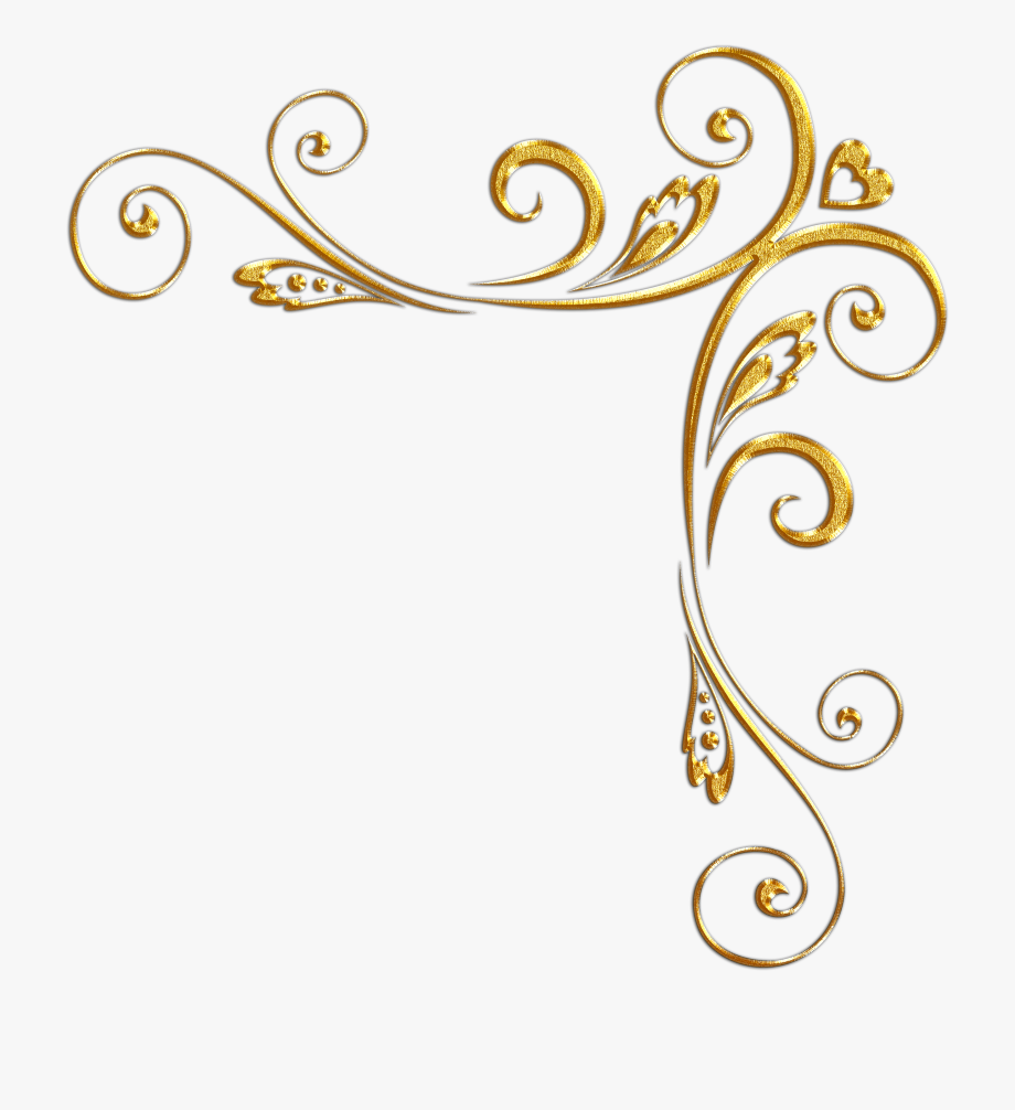 Elegant Gold Borders Png.