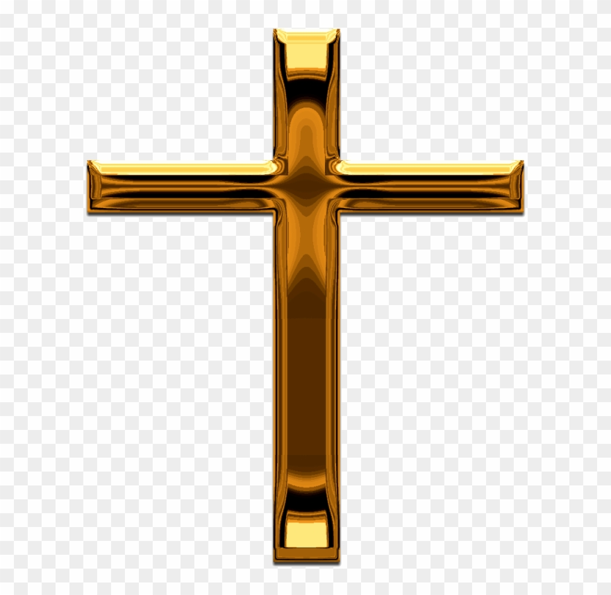 Pin Gold Cross Clip Art.