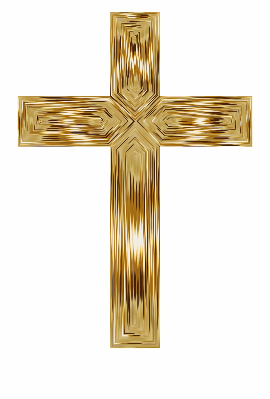 Gold Cross Transparent.
