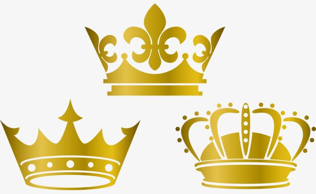 Gold Crown Lovely Vector Material, Crown Material, Crown Vector.