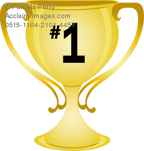 Clip Art Image of a Gold Cup Trophy.