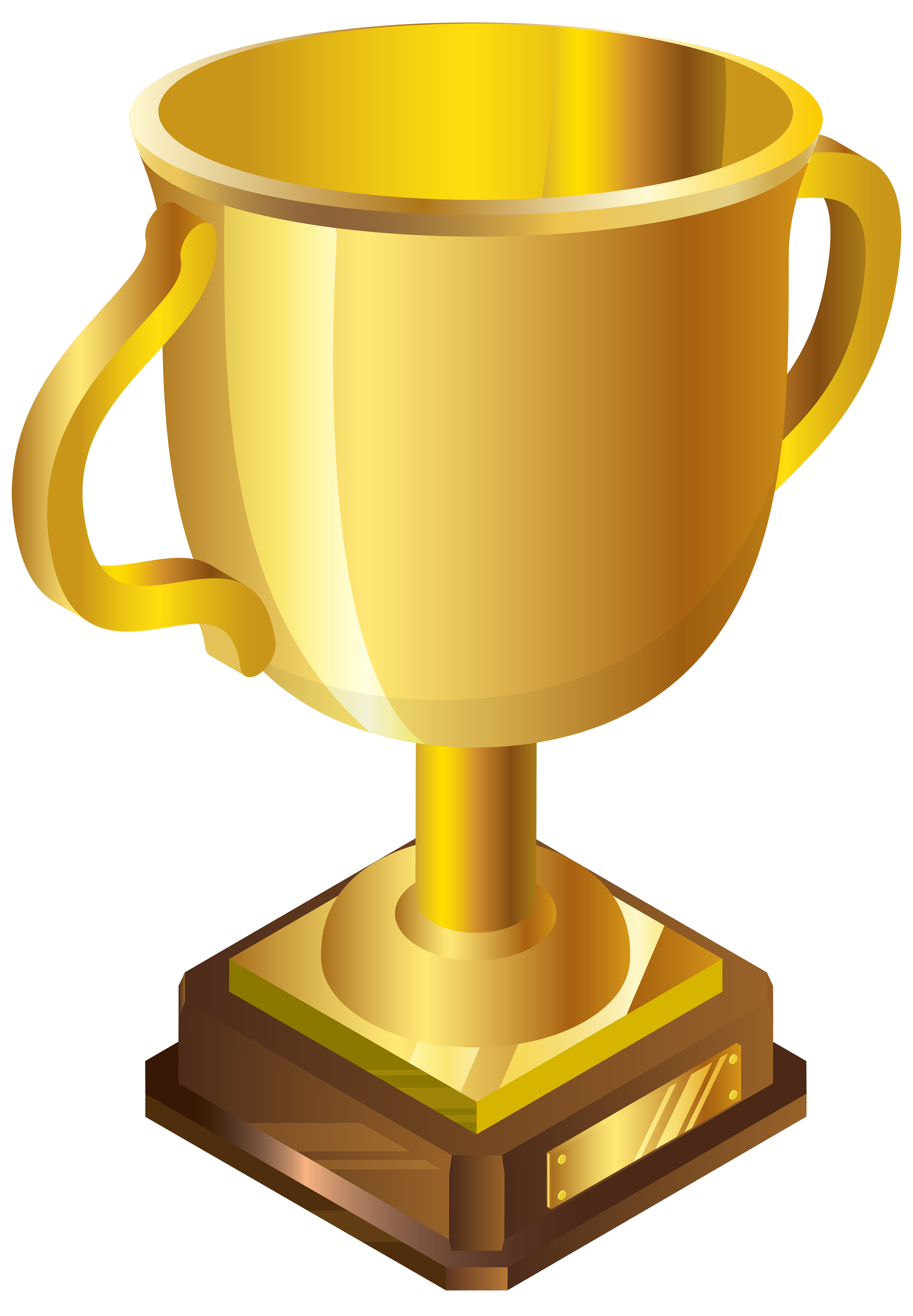 Gold Cup PNG Clip Art Image.