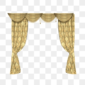 Golden Curtain Png, Vector, PSD, and Clipart With Transparent.