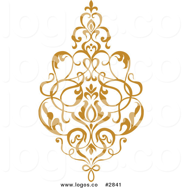 Royalty Free Gold Damask Design Logo by BestVector.