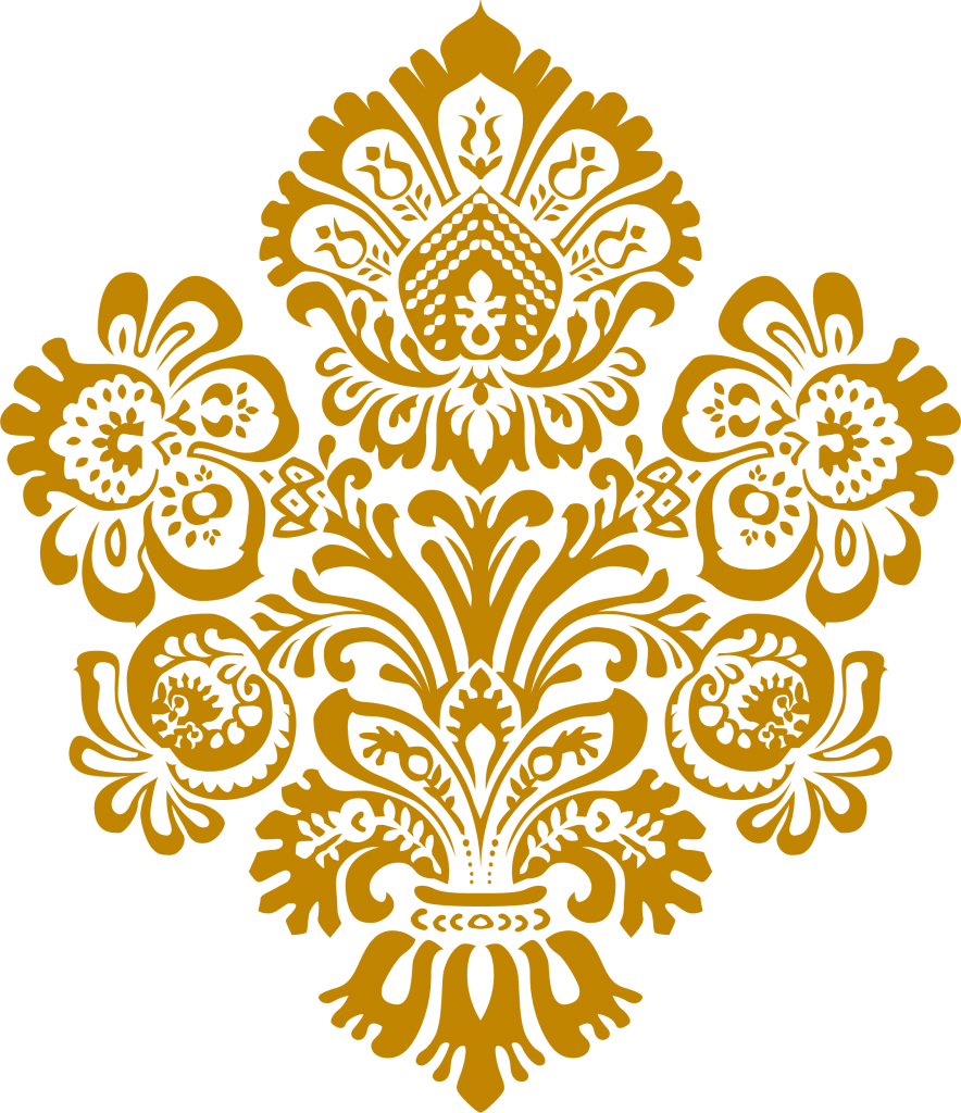 Gold damask clipart images gallery for free download.