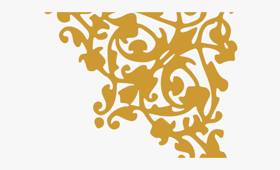 Flourish Clipart Gold Damask.