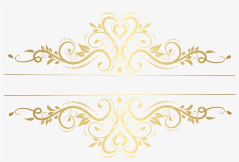 Free Png Download Gold Element Decorative Transparent.