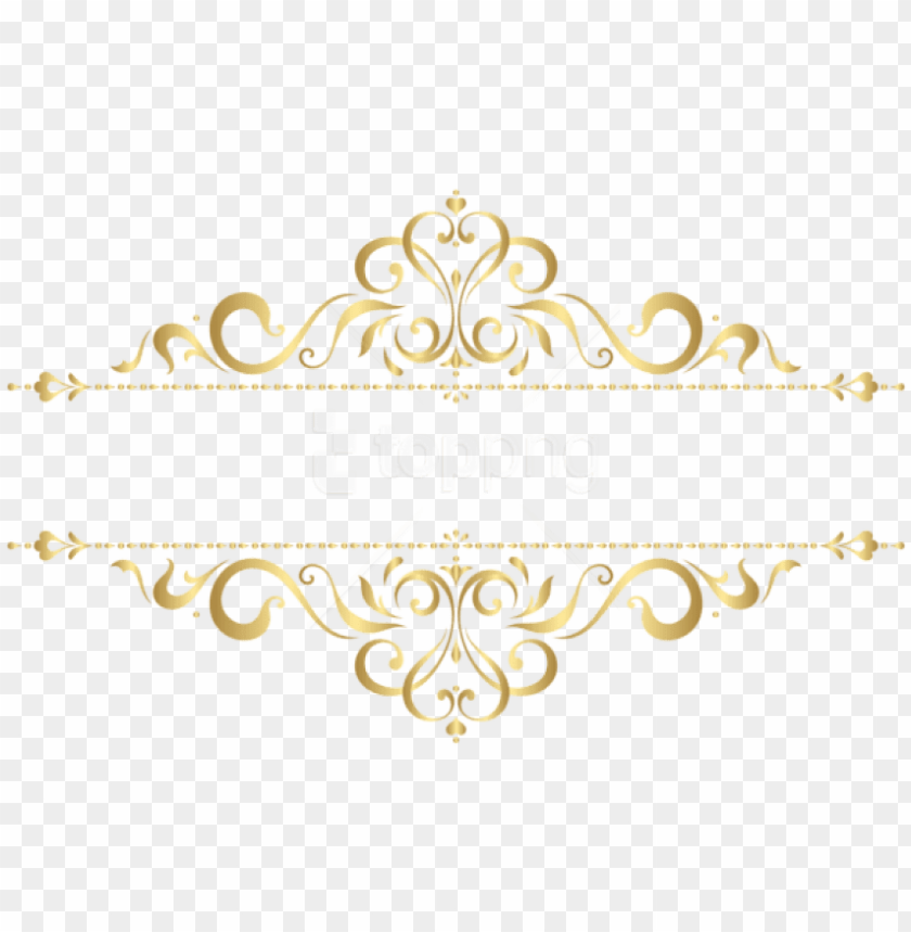 free png download golden ornament clipart png photo.