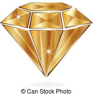 Vector Clip Art of diamond shaped purple & gold banner.
