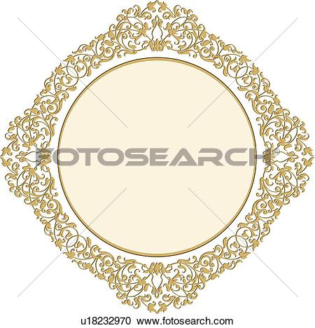 Clipart of Burgundy and gold diamond design u11592873.