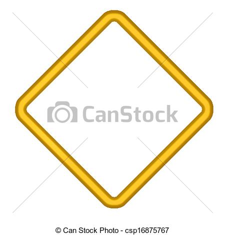 Clip Art Vector of Gold Diamond Shaped Border.