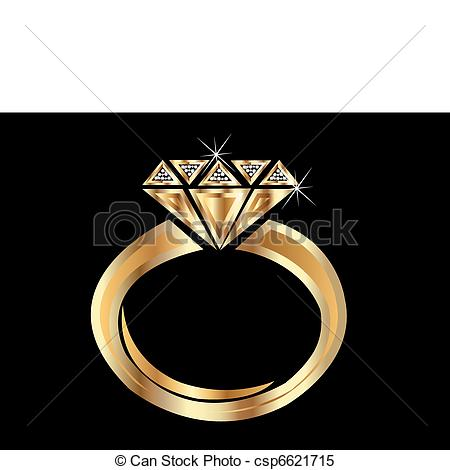 Clipart Vector of Gold Ring.