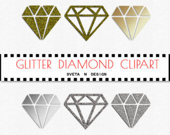 Gold diamond clipart.
