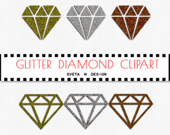 Gold diamond outline clipart.