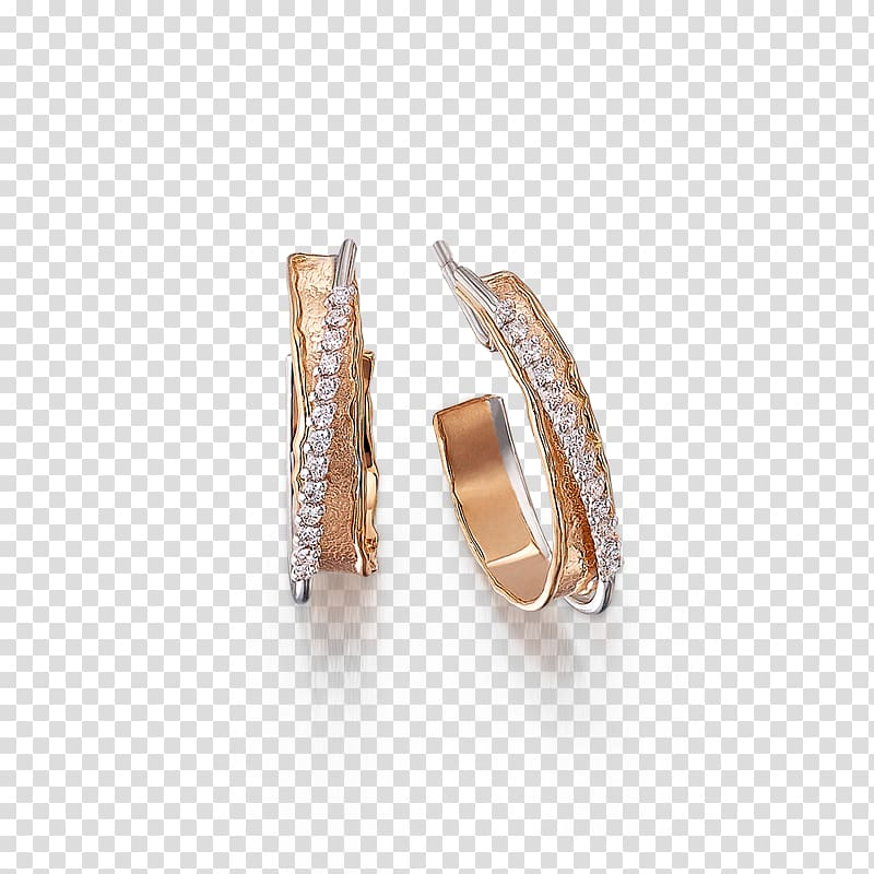 Earring Body Jewellery Diamond, rose gold diamond shape.