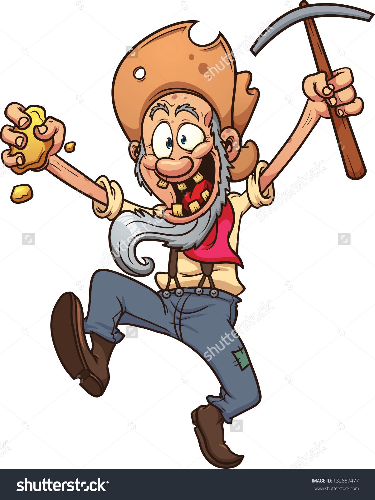 Gold digger clipart.