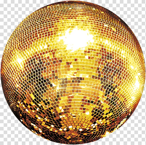 Gold disco ball artwork, Disco ball Sphere Light Gold, disco.