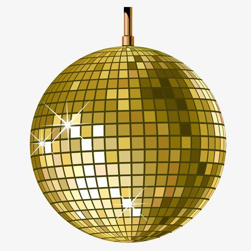 Gold Disco Ball, Globular, Gold, Materialized PNG Transparent.