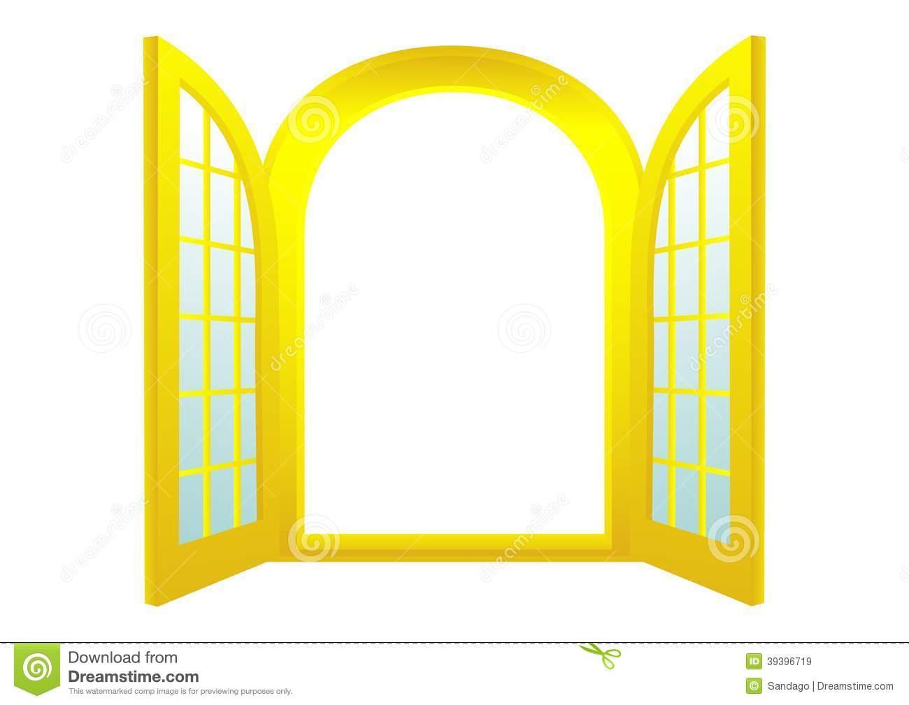 Gold Door Stock Vector.
