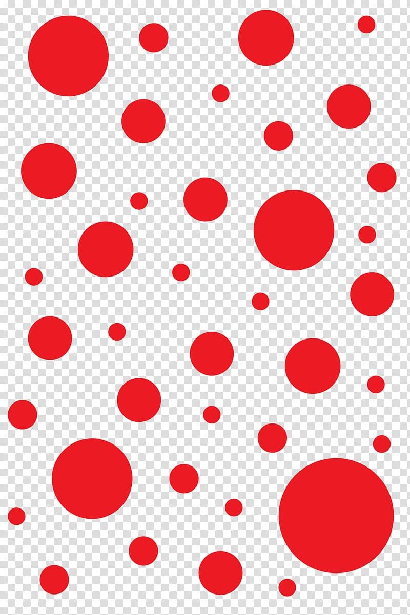 Red polka dots illustration, Polka dot T.