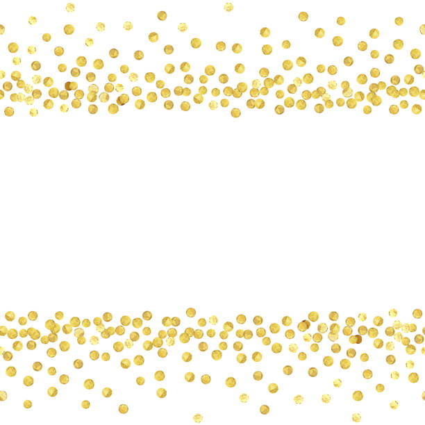 Best Gold Polka Dots Illustrations, Royalty.