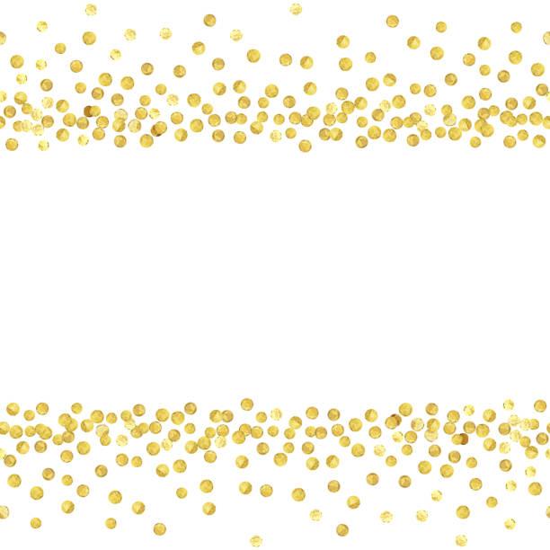 Best Gold Polka Dots Illustrations, Royalty.