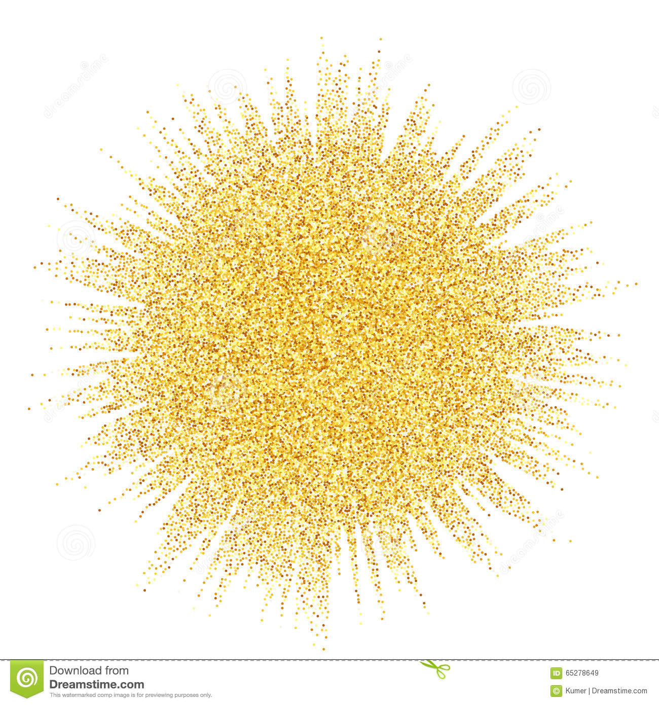 Abstract Vector Gold Dust Glitter Star Wave Stock Vector.