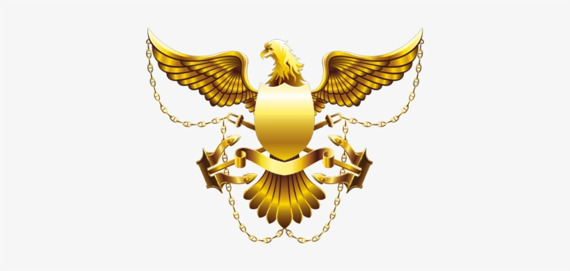 Eagle Wings Vector Png Gold Eagle Shield High Res Psd,.