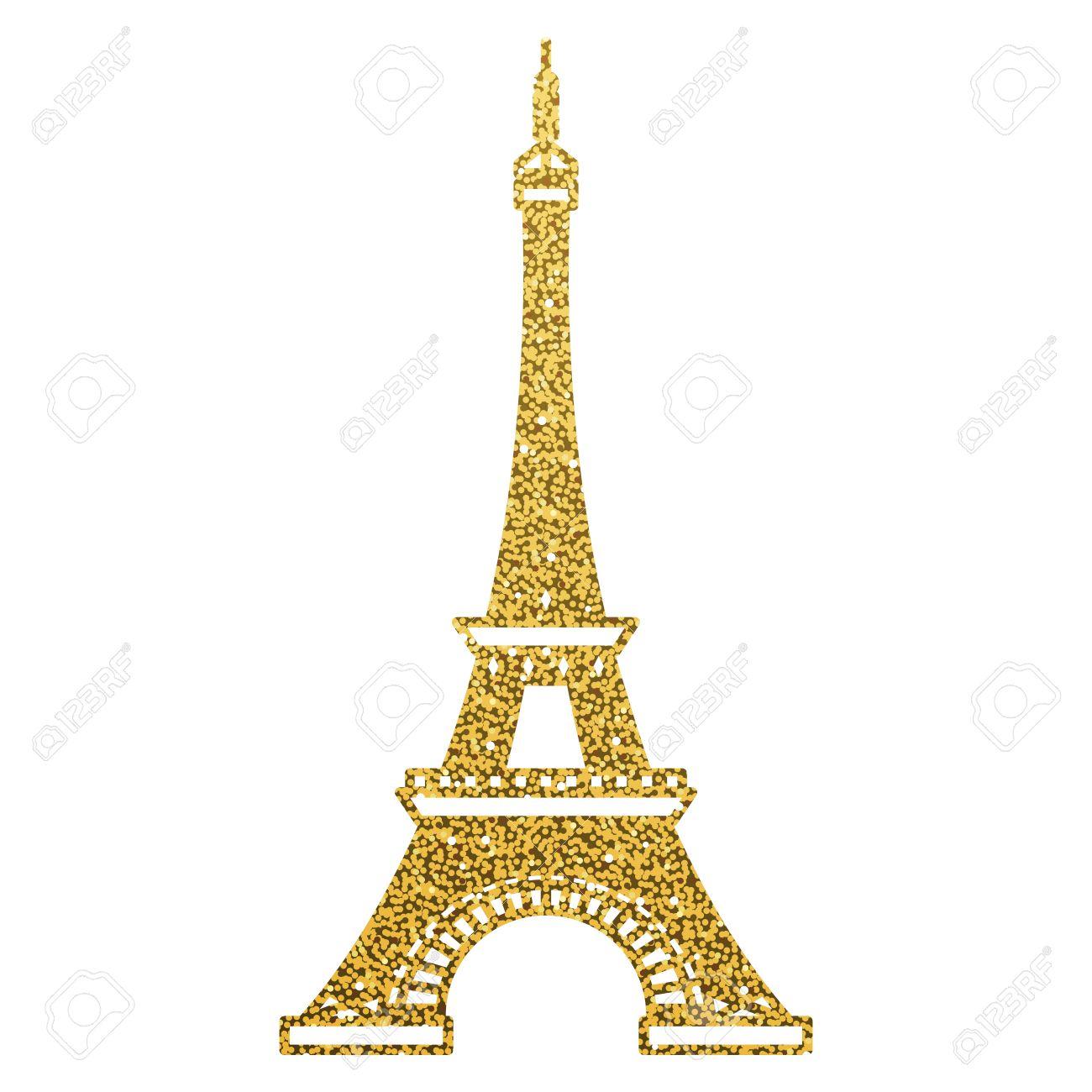 Gold Eiffel Tower Clipart.