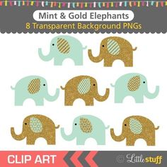 Red Elephant ClipArt , Red and Gray Clip Art set , Cute Elephant.