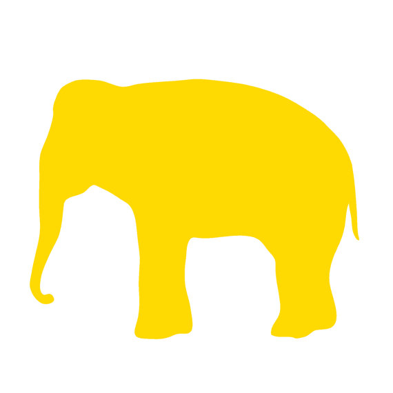 gold elephant clipart #2