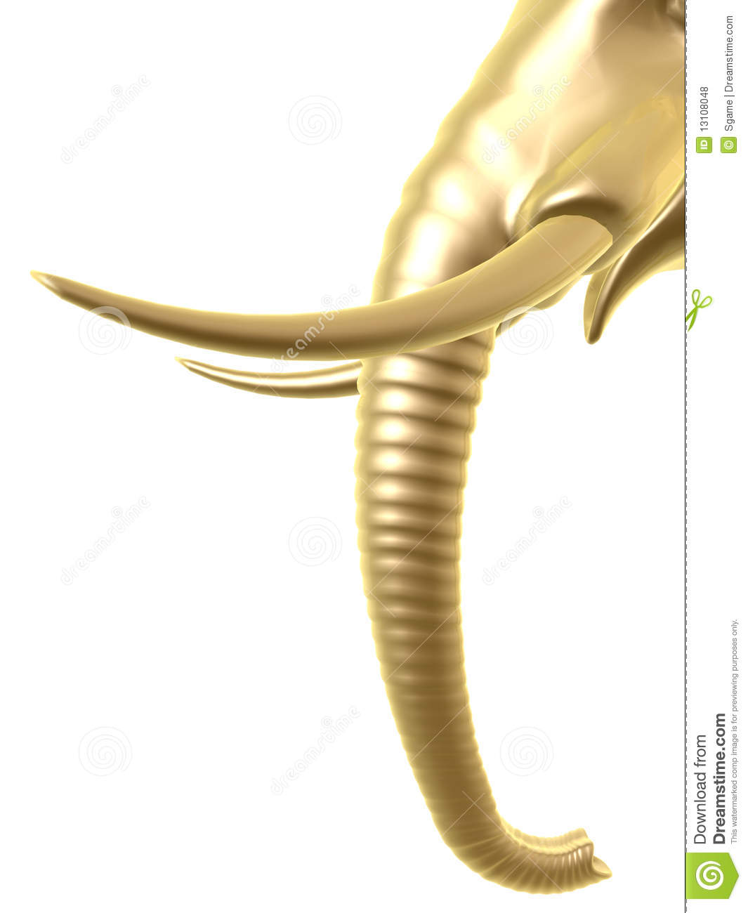 Golden Elephant Trunk Royalty Free Stock Photos.