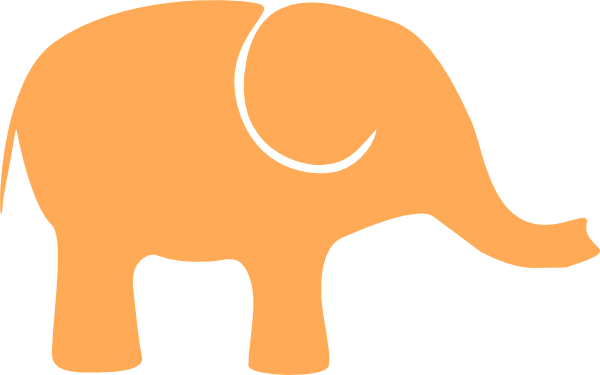One Orange Elephant Clip Art at Clker.com.