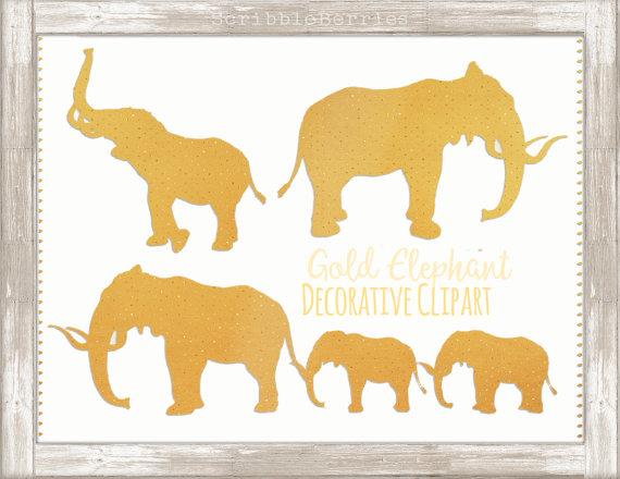 Gold Decorative Elephant Clip Art Elephant Clip Art Gold.